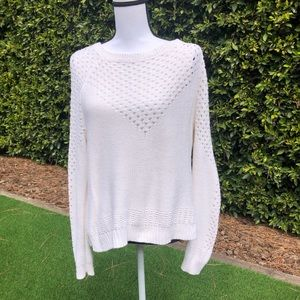 Forever 21 White Open Knit Sweater